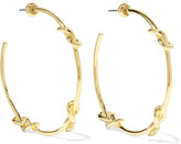 Noir Knotted Gold-Tone Hoop Earrings