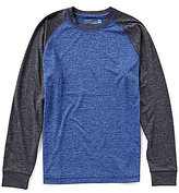 Roundtree & Yorke Performance Big & Tall Long-Sleeve Colorblock Crew
