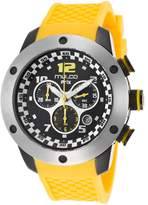 Mulco Mw26313095 Men's Prix Chronograph Yellow Silicone Dial Watch