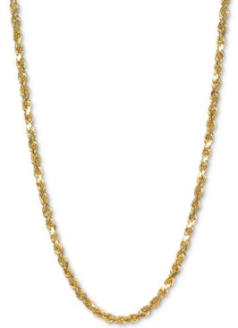 """Italian Gold Rope 30"""" Chain Necklace in 14k Gold"""