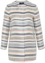 Hallhuber A-line coat with textured stripes