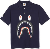 A Bathing Ape Shark piqué cotton polo shirt 4-8 years