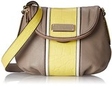 Marc by Marc Jacobs New Q Croc Striped Mini Natasha Cross Body Bag