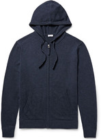 Schiesser Julius Wool And Cashmere-blend Zip-up Hoodie - Storm blue