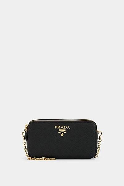 Prada Women's Leather Chain Wallet - Black