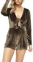 MinkPink Tied Up Velvet Play Suit