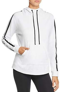 Blanc Noir Sport Striped-Sleeve Hooded Sweatshirt