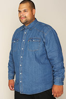 Yours Clothing DUKE Stonewash Denim Shirt