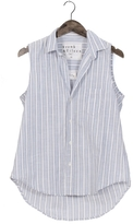 Frank And Eileen Womens Fiona Sleeveless Stripe Shirt