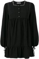 Amen studded trim dress - women - Polyester/Spandex/Elastane - 40