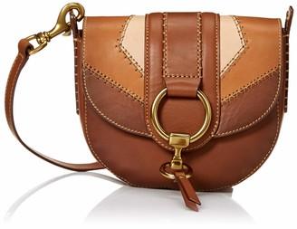 Frye Ilana Color Block Saddle Crossbody Leather Bag One Size