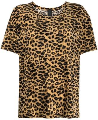Norma Kamali leopard print T-shirt