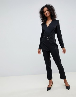 UNIQUE21 Unique 21 long sleeve wrap jumpsuit