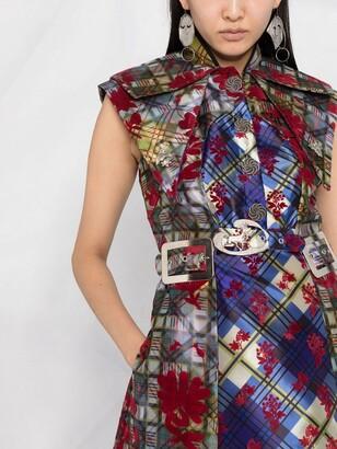 Chopova Lowena Panelled Belted Midi Dress