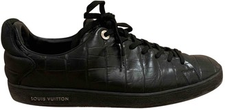 Louis Vuitton Frontrow Black Leather Trainers