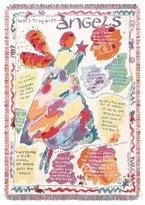Loom Craft SARK Ways to be With Angels Tapestry Throw Blanket Rug Afghan