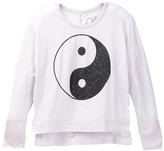 Chaser Ying Yang Long Sleeve Dolman Top (Big Girls)