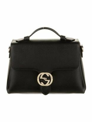 Gucci Medium Interlocking GG Top Handle Bag Black