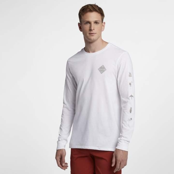 Nike Hurley Glyphs Men's Long-Sleeve T-Shirt