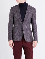 Boss Black Formal Regular-fit wool-blend tweed jacket