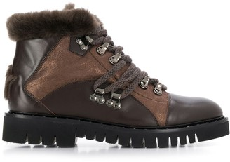 Lorena Antoniazzi Fur Lined Ankle Boots