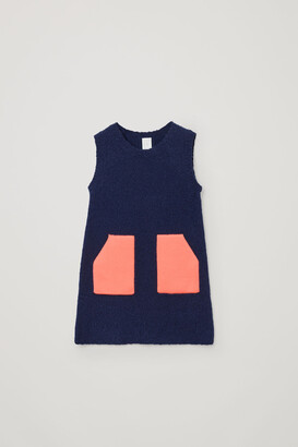 Cos Color-Block Knitted Dress