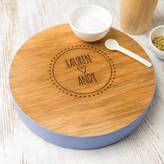 Dust and Things Personalised Couple Cheese Serving Board