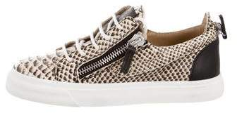 Giuseppe Zanotti Embossed Leather Low Top Sneakers