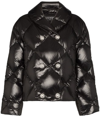 Balmain double-breasted puffer jacket