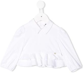 Elisabetta Franchi La Mia Bambina peplum hem shirt