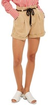 Topshop Women's Rope Belt Cotton Shorts