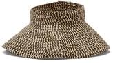 Flapper Aura Woven Visor Hat - Womens - Beige