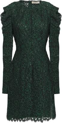 MICHAEL Michael Kors Scalloped Cotton-blend Corded Lace Mini Dress