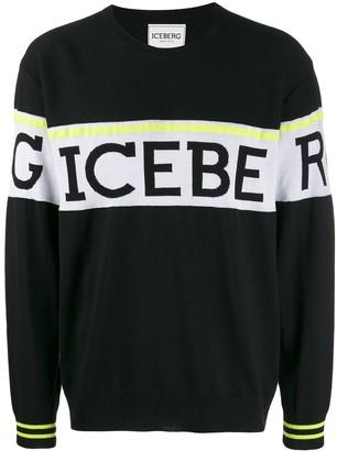 Iceberg logo stripe sweater