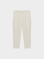 DKNY Pinstripe Cropped Wool Pant