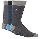 J By Jasper Conran Designer Pack Of Three Navy And Black Fine Striped Socks