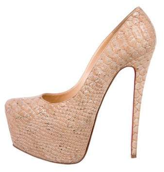 Christian Louboutin Daffodile Cork Pumps