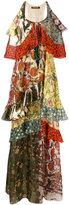 Roberto Cavalli ruffle tier printed maxi dress