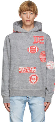 DSQUARED2 Grey Cool Fit Hoodie