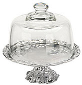 Arthur Court Grape Mini Cake Plate with Glass Dome