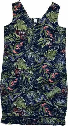 Fashionlabels4Less Linen Blend Shift T-Shirt Casual Summer Dress Ladies Womens Loose Sleeveless Sun Floral Print Pocket Tunic Ochre