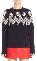 No.21 NO. 21 Patterned Wool-Blend Sweater
