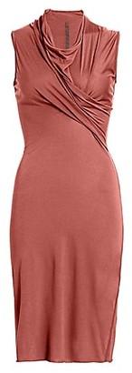 Rick Owens Lilies Cowlneck Sheath Dress