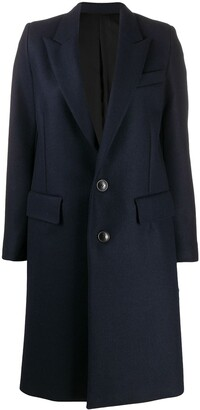 AMI Paris Two Button Mid-Length Coat
