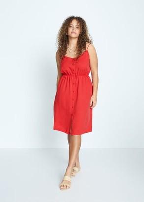 MANGO Violeta BY Lyocell 100% dress red - 14 - Plus sizes