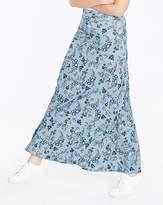 Fashion World Floral Print Stretch Jersey Maxi Skirt