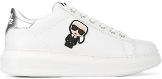 Karl Lagerfeld Paris logo plaque sneakers