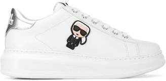 Karl Lagerfeld Paris Logo Plaque Sneakers