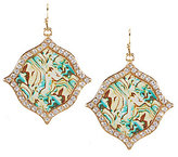 Natasha Accessories Watercolor Abalone Drop Earrings