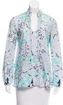 Emilio Pucci Floral Print Long Sleeve Top